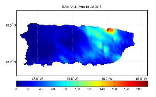 rainfall in san juan july 18