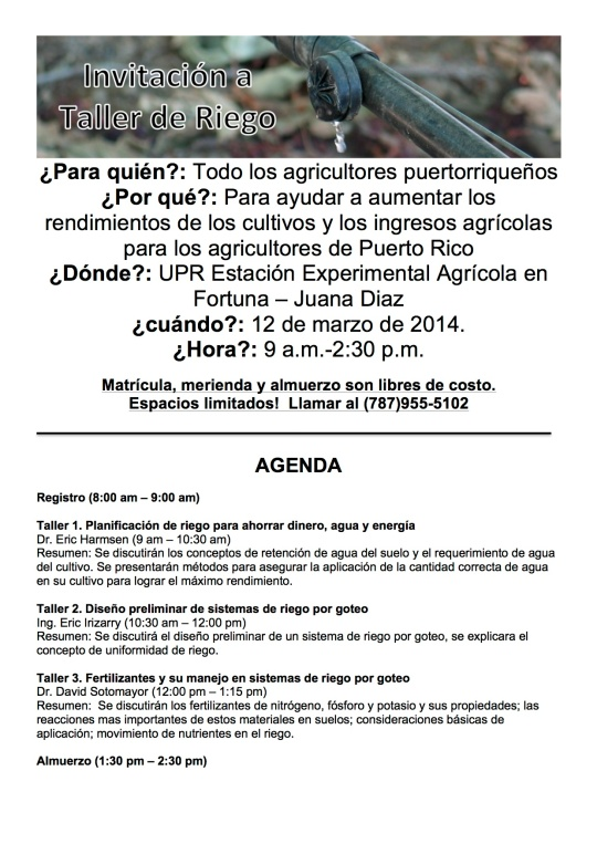 Taller de Riego flyer version2